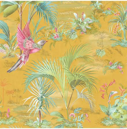 Pip 2020 Palm Scene Tapet med palmer - Gul