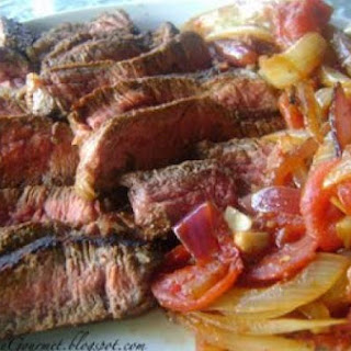 Boneless Sirloin Steak with Onions & Tomatoes!!!