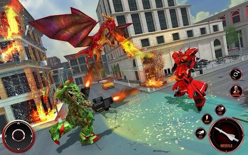Flying Fire Dragon Robot Transform Bike Robot Game 4