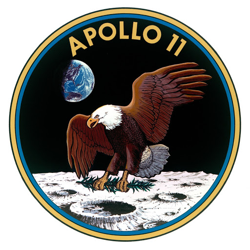 OFFICIAL EMBLEM - APOLLO 11 - FIRST (1st) SCHEDULED LUNAR LANDING MISSION