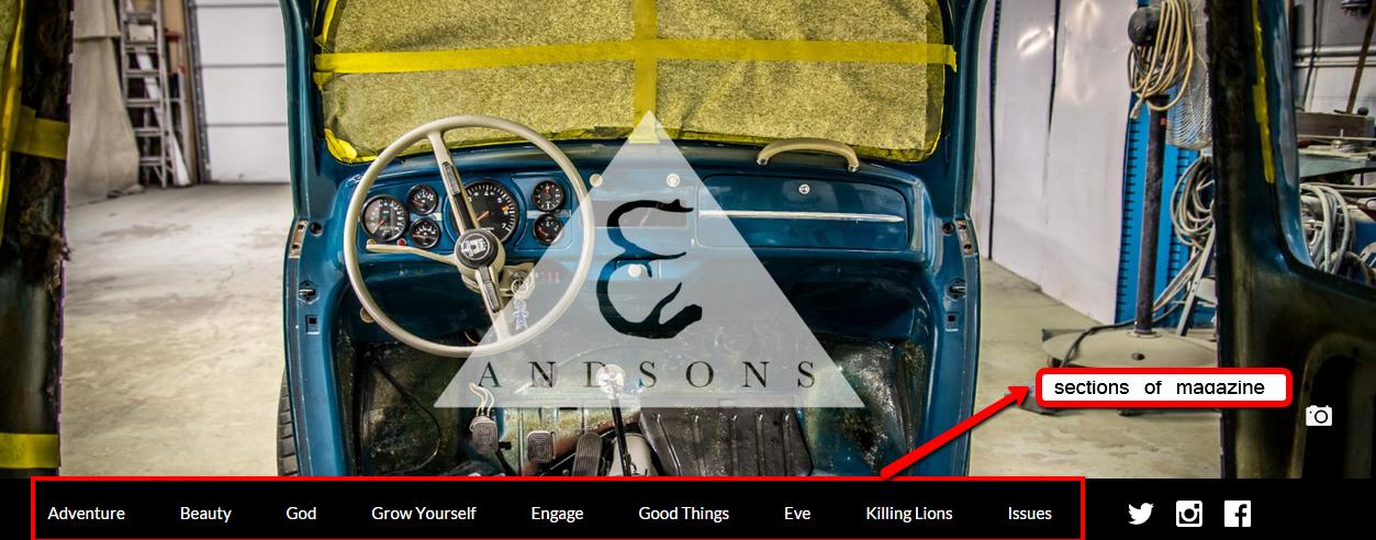And Sons Magazine Desktop