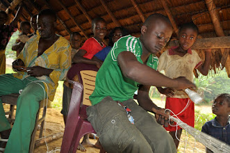 Photo: making nets for antelope hunting