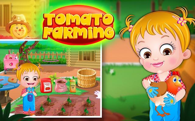 Baby Hazel Tomato Farming Game