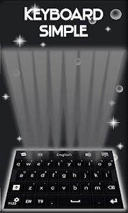 Jednoduchá klávesnice černá - náhled