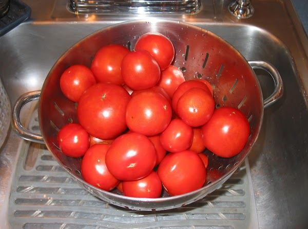 Otherwise chop all the tomatoes and add basil (if using), stir well, and cover....