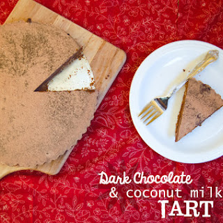 Dark Chocolate & Coconut Milk Tart   Gluten Free   Dairy Free.