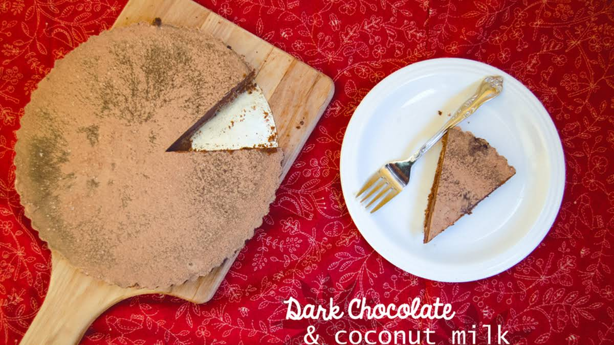 Dark Chocolate Coconut Milk Tart Gluten Free Dairy Free