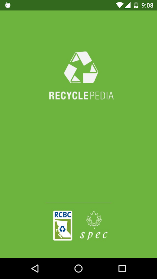 BC Recyclepedia- screenshot