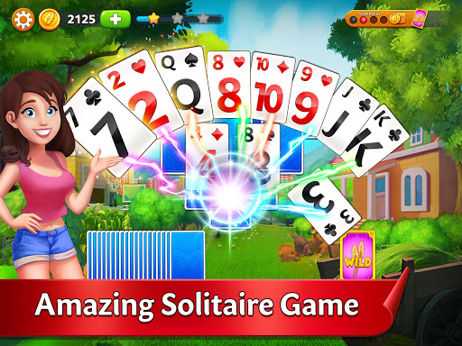 Solitaire Garden - TriPeaks Story android2mod screenshots 6