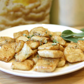 Parmesan Sage Gnocchi in Browned Butter Sauce.