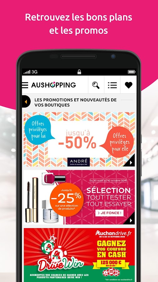 Aushopping - Centre commercial – Capture d'écran