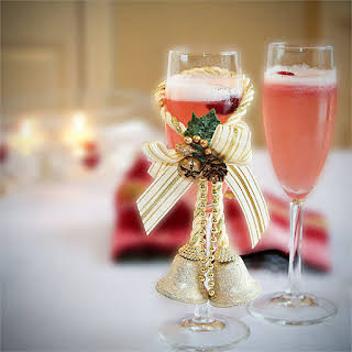 Sorbet and Champagne Cocktail.