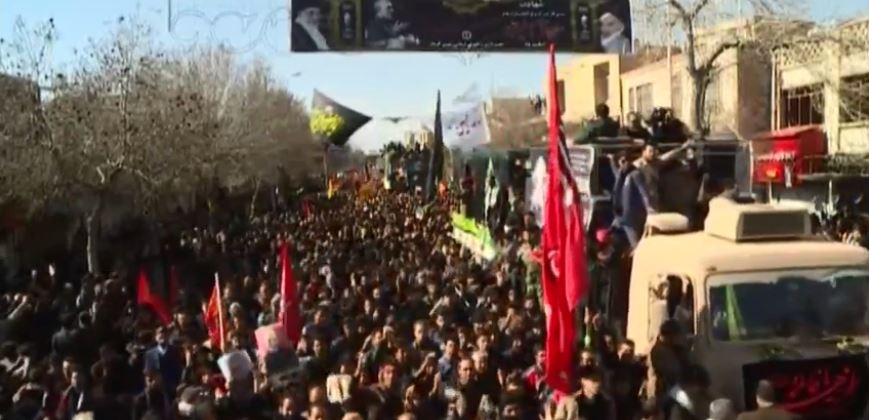 WATCH LIVE | Huge crowd gathers for Qassem Soleimani's funeral procession and burial