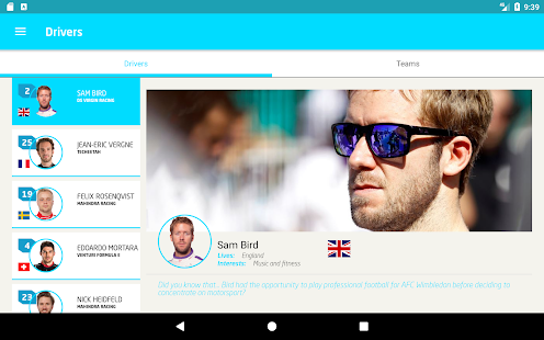 Formula E App- screenshot thumbnail