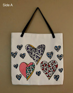 Floating Hearts Open-Top Tote image 0