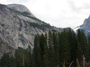Photo: North Dome with Royal Arches. Faces Half Dome. #2354.    You can see the snowy section of Half Dome there too, on the right.