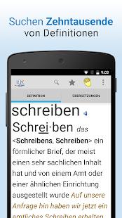 Wörterbuch + Screenshot