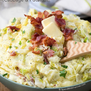 Colcannon (Cabbage and Potatoes).
