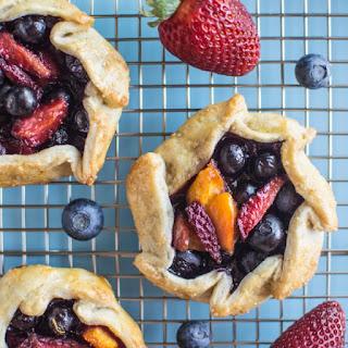 Mini Berry and Nectarine Galettes.