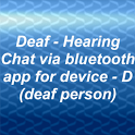 Deaf - Hearing chat device D icon