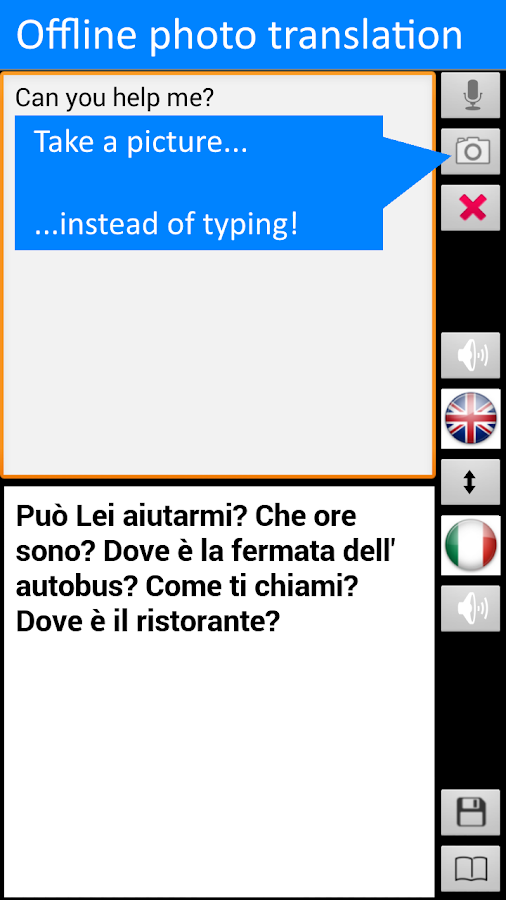 Translate Offline Italian Free- screenshot