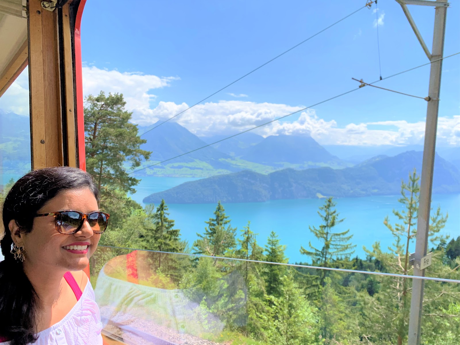 Views from the train - how to go to Mt. Rigi from Vitznau