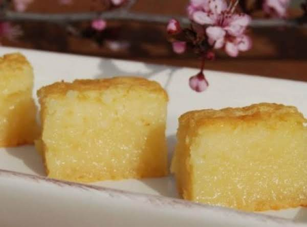 Butter Mochi - Japanese Sweet Chewy Dessert Recipe