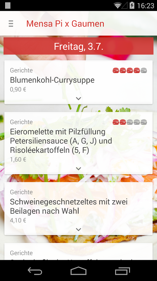 Mensa frankfurt main android apps on google play for Fachhochschule offenbach