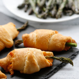 Cheese and Asparagus Stuffed Crescent Roll