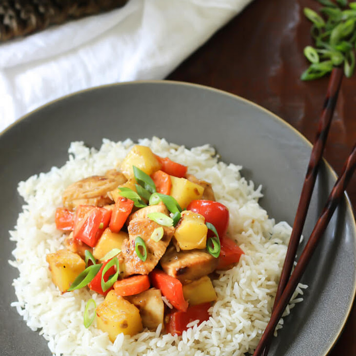 Sweet and Sour Pineapple Chicken Stir Fry