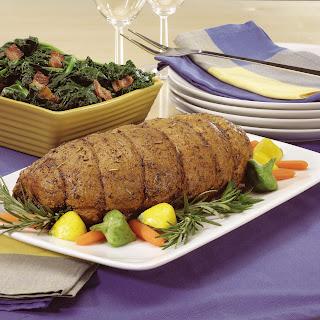 Boneless, Herb-Crusted Leg of Pork.