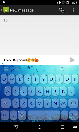 Emoji Keyboard-Ocean 1.3 screenshot 1298928