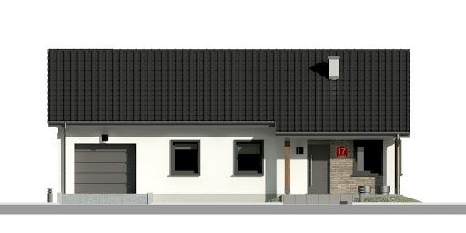Dom przy Bukowej 17 - Elewacja przednia