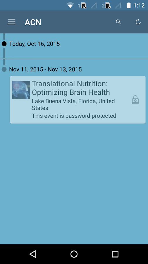 American College of Nutrition- screenshot