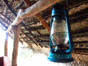 Photo: Modern lighting in the hut. (Habarana)