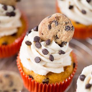Pumpkin Cookie Dough Cupcakes