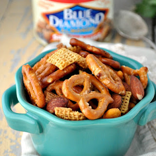 Slow Cooker Mesquite Smokehouse Snack Mix.