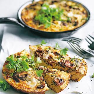 Mushroom And Cauliflower Frittata.
