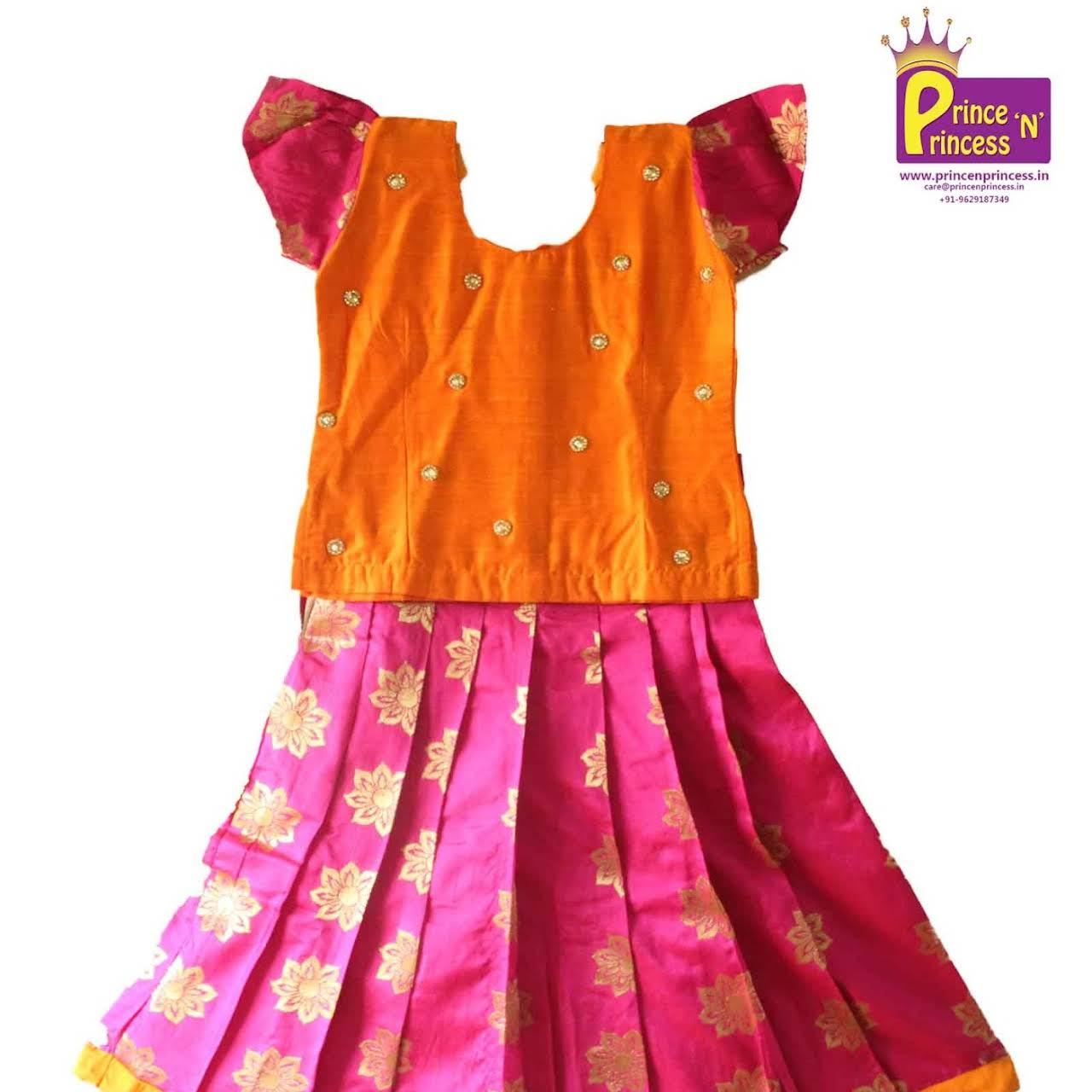 dd9b3a72ea Prince N Princess - Kids Pattu Pavadai , Frock, Gown, Lehanga Choli ...