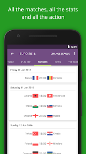 FotMob - Euro 2016 Scores Screenshot 1