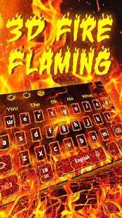 3D Flaming Fire Keyboard Theme