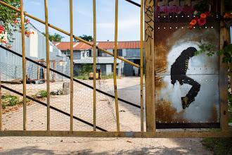 Photo: Michael Jackson Stencil - Austin, Texas