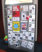 Photo: Nottinghamshire's Rainbow Heritage's display at the Meadows library