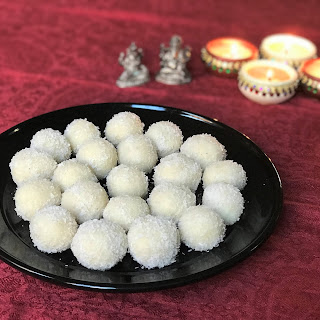 Coconut Almond Balls (Laddoo).