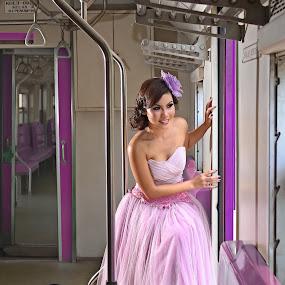 purple train by Immanuel Christmanto - People Portraits of Women