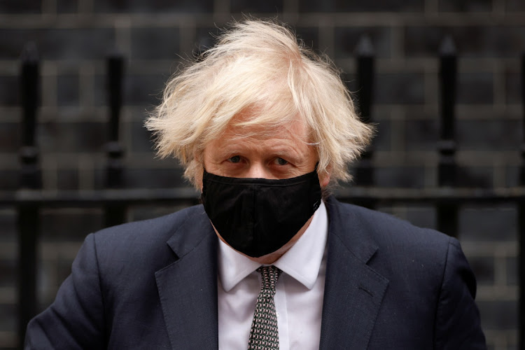 Prime Minister Boris Johnson leaves Downing Street in London, Britain, March 24 2021. Picture: REUTERS/JOHN SIBLEY