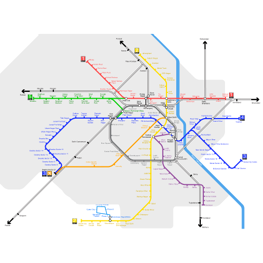 Delhi metro stations