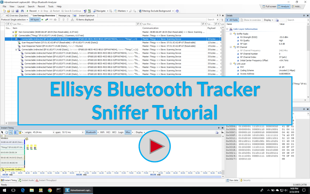 Ellisys Bluetooth Tracker Sniffer Tutorial Image