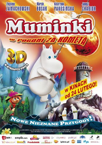 Polski plakat filmu 'Muminki W Pogoni Za Kometą'