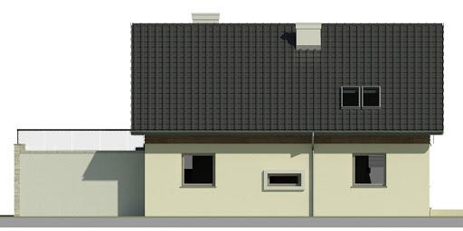 Dom przy Alabastrowej 7 - Elewacja tylna